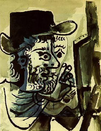 Pablo Picasso. The painter I, 1964