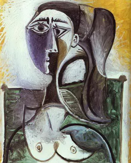 Pablo Picasso. Portrait of a woman sitting, 1960