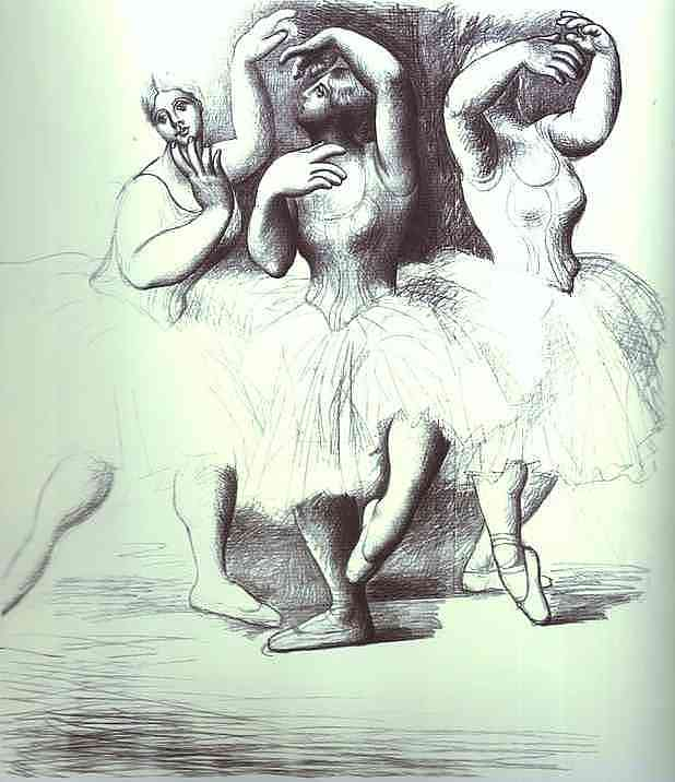 Pablo Picasso. Three Dancers, 1919