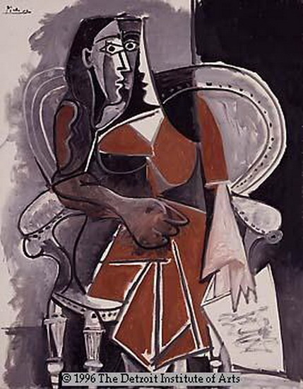 Pablo Picasso. Woman sitting in a chair III, 1960