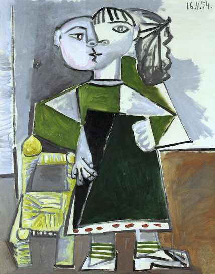 Pablo Picasso. Paloma standing, 1954