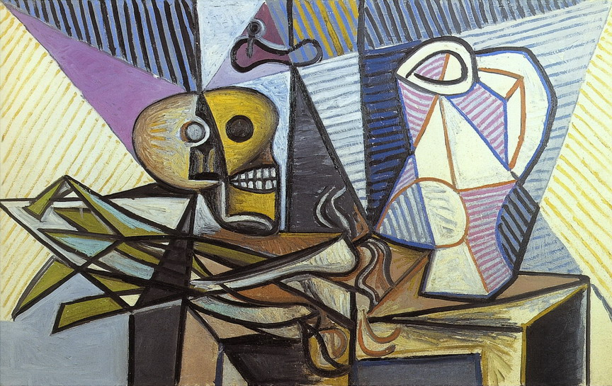 Pablo Picasso. Leeks, and Pitcher Crane, 1945