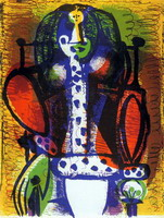 Pablo Picasso. Woman in a chair II