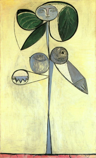 Pablo Picasso. Woman-flower , 1946
