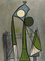 Pablo Picasso. Woman in a chair [Figure]