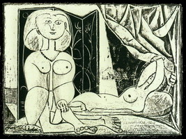 Pablo Picasso. The two naked women XVI