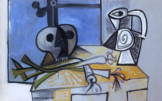 Pablo Picasso. Leeks, and Pitcher Crane