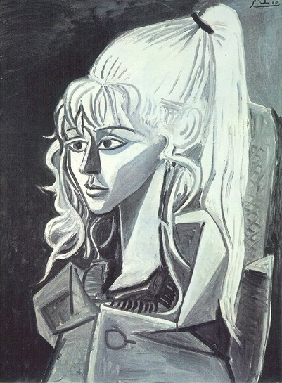 Pablo Picasso. Portrait of Sylvette David 21, 1954