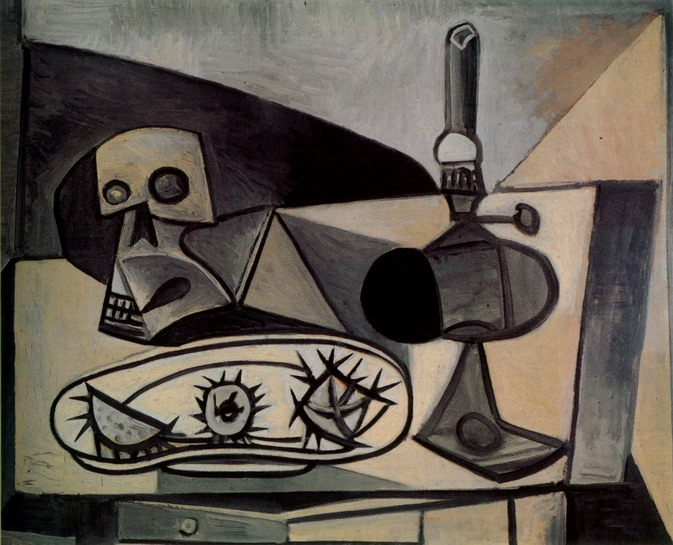 Pablo Picasso. Crane, urchins and lamp on a table, 1946