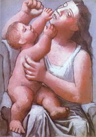 Pablo Picasso. Theme:  Mother and Child.