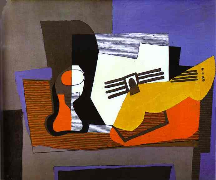 Pablo Picasso. Still Life with Guitar, 1921