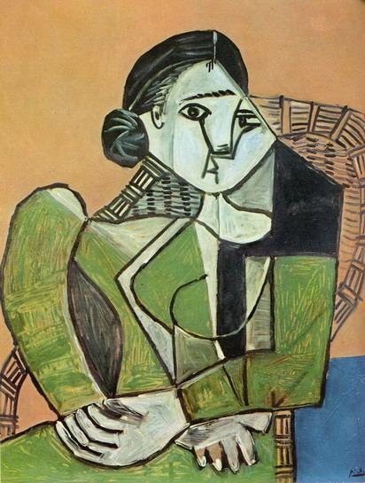 Pablo Picasso. Françoise sitting in an armchair, 1953