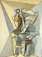 Pablo Picasso. crane on a chair, 1946