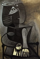 Seated Woman with Hat