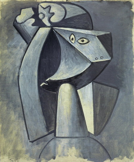 Pablo Picasso. Head to the cap, 1947