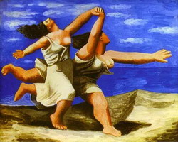 Pablo Picasso. Women Running on the Beach, 1922