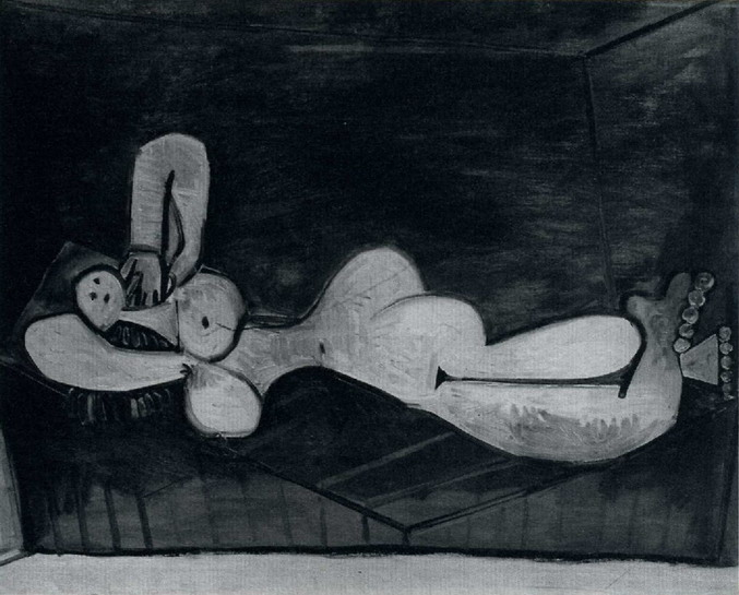 Pablo Picasso. Nude Woman couchee [Nu Star], 1936