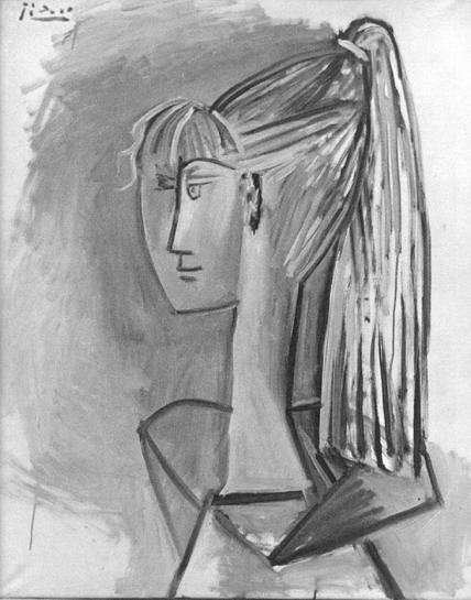 Pablo Picasso. Portrait of Sylvette David 02, 1954