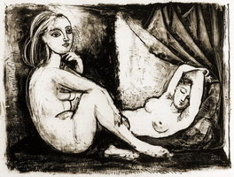 Pablo Picasso. The two naked women III (1945)