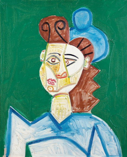 Pablo Picasso. Woman with hat, 1947
