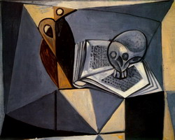 skull and book (tete de mort and book)
