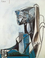 Pablo Picasso. Portrait of Sylvette David 28, 1954