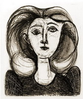 Pablo Picasso. Head of a Girl with long hair II