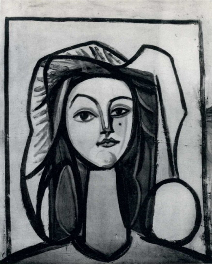 Pablo Picasso. Head of a Woman (Françoise), 1946
