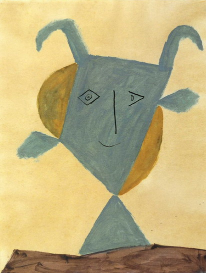 Pablo Picasso. Green animal head, 1946