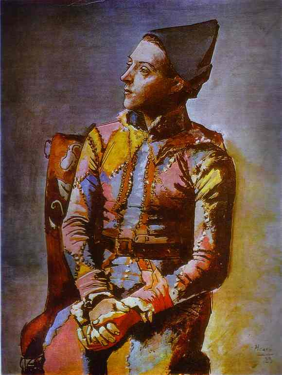 Pablo Picasso. The Seated Harlequin, 1923