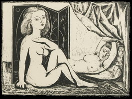 Pablo Picasso. The two naked women IX