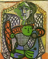 Pablo Picasso. Claude in the arms of his mother