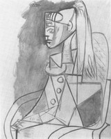 Pablo Picasso. Portrait of Sylvette David 18, 1954