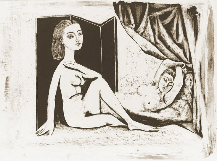 Pablo Picasso. The two naked women VII, 1946