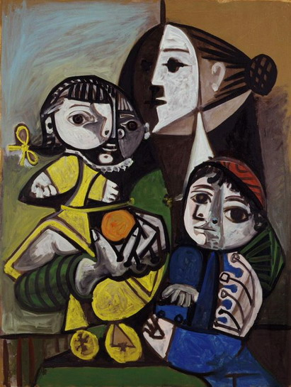 Pablo Picasso. Mere children has l`orange, 1951