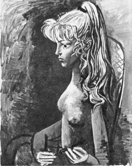 Pablo Picasso. Portrait of Sylvette David 04, 1954