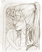 Pablo Picasso. Portrait of Sylvette David 06, 1954