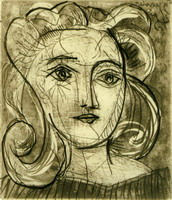 Pablo Picasso. Head of a Woman (Françoise Gilot)
