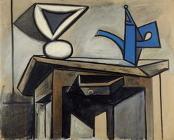 Pablo Picasso. Still Life is the coffee maker
