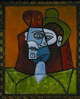 Pablo Picasso. Woman with green hat