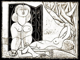 Pablo Picasso. The two naked women XV