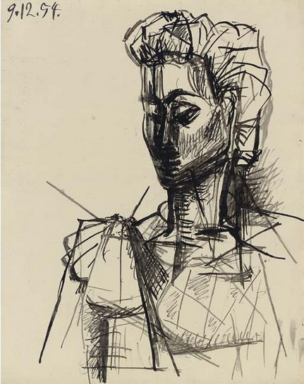 Pablo Picasso. Head of a Woman, 1954
