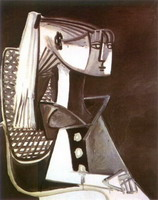 Pablo Picasso. Portrait of Sylvette David 03, 1954
