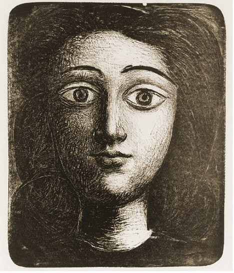 Pablo Picasso. Head girl VI, 1945