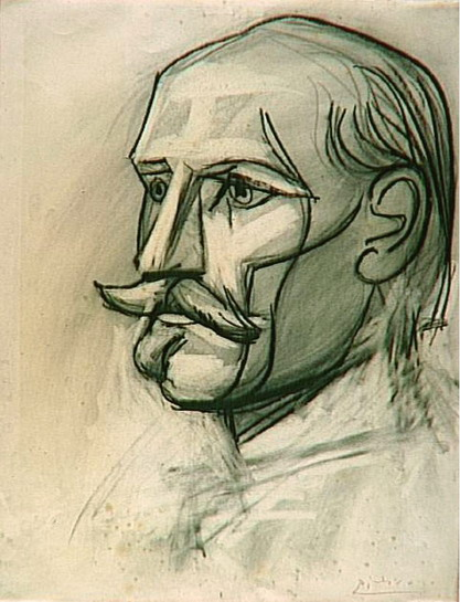 Pablo Picasso. Portrait of Paul Langevin, 1945