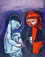 Pablo Picasso. Two children Claude and Paloma
