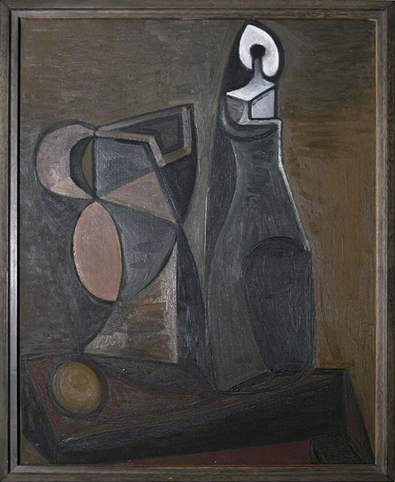 Pablo Picasso. Pitcher and candlestick, 1945