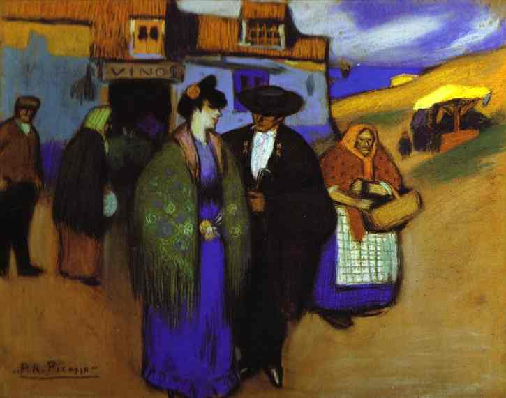 Pablo Picasso. A Spanish Couple in front of an Inn, 1900