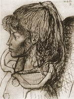 Pablo Picasso. Portrait of Sylvette David 07, 1954