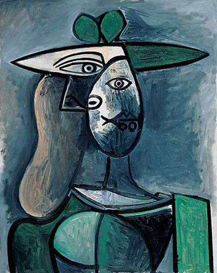 Pablo Picasso. Woman with hat, 1961